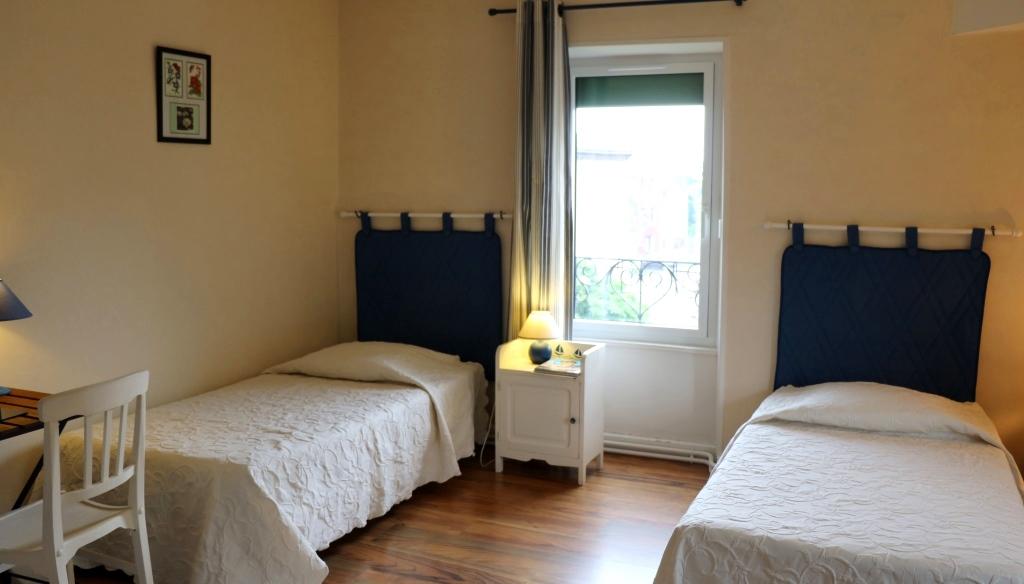 Gentiane : une des chambres d'hôtes de La Béalière en Auvergne